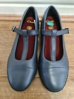 Clark's Girls Blue Shoes School Shoes - Uk Size 13.5 Ex Displayed No Box New