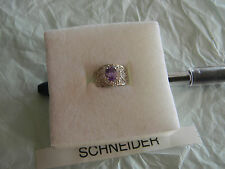 Premier Designs TANZANIA rhodium purple cz ring set sz 7 RV $48 free ship w/bin