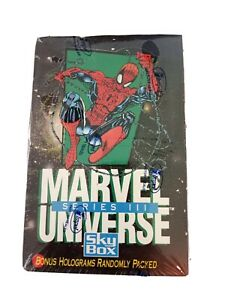 1992 Marvel Universe Series 3 III Trading Cards Factory Sealed Box 36 Packs 90s