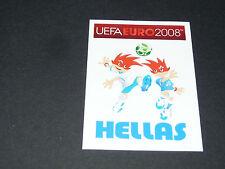 N°358 MASCOTTES GRECE HELLAS PANINI FOOTBALL UEFA EURO 2008