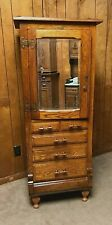 1890 OAK HARVARD DENTAL / JEWELRY /  COLLECTORS ,CABINET Country / General Store