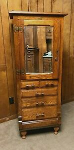 1890 HARVARD DENTAL/MEDICAL/JEWELRY/COLLECTOR CABINET, Country / General Store