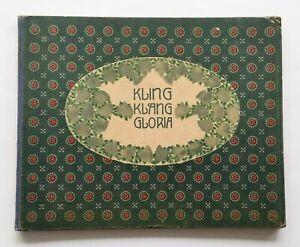 Kling-Klang Gloria Deutsche Volks-, Kinderlieder,Labler, Wien Tempsky Jugendstil