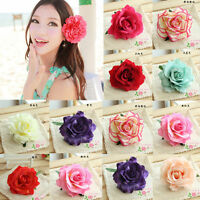Cute Women Lady Rose Flower Hair Clip Bridal Wedding Party Hairpin Brooch