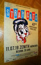 Nouveau (plane) 2019 STRAY CATS Munich tour-Concert Poster