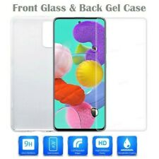 Clear Case / Front Tempered Glass Screen Protector Cover For SAMSUNG GALAXY A71