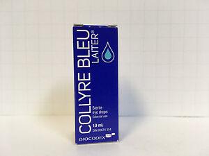ORIGINAL Collyre Bleu Blue Laiter Eye Drop - 10ml (Sealed)