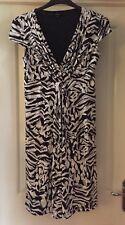 Linea Ladies Dress, Black, White + Grey, Size 12 - Gorgeous!