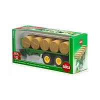 Trailer with Round Bales - 1:32 Scale by Siku - 2891
