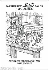 Lister D & DK Stationary Engine Overhauling Booklet