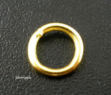 100 x 6mm OPEN JUMP RINGS GOLD PLATED STRONG 1mm Gauge