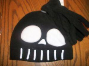 Skull face  Hat Cap NWT Stocking beanie Skull with gloves OSFM