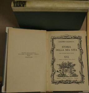 STORIA DELLA MIA VITA, VOL. XVI, Casanova, Corbaccio 1926, PRIMA INT. EDI. ITAL.