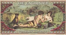 "RARE ORIGINAL 1876 ""THE ENCHANTER BRAND"" TOBACCO LUG LABEL PETERSBURG VIRGINIA"