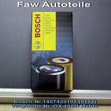 1x Filtro De Aceite Bosch P 9192 ,1457429192OX 188D Skoda Fabia 1, 4TDI Superb