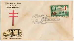 Philippine 1960 Surcharged Fight Tuberculosis FDC