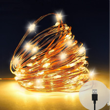 10M USB LED String Light Operated Micro Copper Wire Fairy Party Xmas Wedding