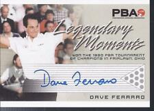 2008 PBA Bowling Autograph Legendary Moments Dave Ferraro