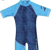 "Zunblock Sunsuit ""croco Turquoise"" For Age 1 Year New With Tags"