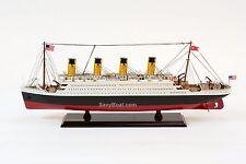"RMS Titanic White Star Line Cruise Ship 25"" - Handmade Wooden Model Ship NEW"