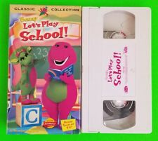 Barney-Lets Play School VHS 1999 Classic Collection ABC's 123's Fun RARE