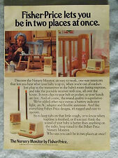 1985 Magazine Advertisement Ad Page Fisher-Price Nursery Baby Monitor Mom