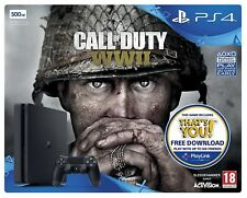 Sony PlayStation 4 Slim Call Of Duty WWII 500GB Matte Black Console