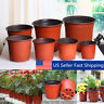 100Pcs Plastic Garden Nursery Pots Flower Pot Seedlings Planter Containers Set