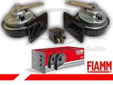 922010 COPPIA TROMBE CLACSON FIAMM TR99 24V CAMION + RELE' E STAFFE DI FISSAGGIO