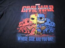 Pop Tees Marvel Comics Captain America Civil War TEE T SHIRT  2XL B9