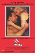 9 1/2 WEEKS Movie POSTER 27x40 C Mickey Rourke Kim Basinger Margaret Whitton