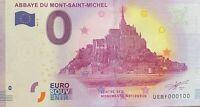 BILLET 0  EURO ABBAYE  DU MONT ST MICHEL REV. BIG BEN FRANCE 2017 NUMERO 100