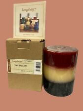 Longaberger 3 X 4 Pillar Candle American Breeze W/Papers New
