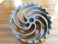 Tisco A.G. A 1937 Tooth Swirl Cog Wheel Steampunk Era Seed Part Hardware