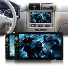 7'' 2Din HD Car Stereo MP5 Player Bluetooth Auto Radio USB AUX+Rear View Camera