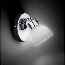 Wofi Wandleuchte Parker 1-flg Chrom Glas gewischt Spot verstellbar 33 Watt Lampe