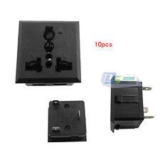 5xAU EU UK US AC 250V 13A Terminal Socket Panel Mounted Adapter Conventer Plug