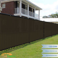 Customize 8' FT Tall Brown Privacy Screen Fence Windscreen Mesh Shade Yard Cover