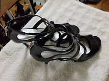 """Tahari Women's Patent Leather Ankle Strap High Heels Size 9.5 M  """"Choir"""" NEW"""