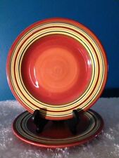 "Laurie Gates Sommerset Persimmon Pattern  8-1/2"" Salad Plates (2)"