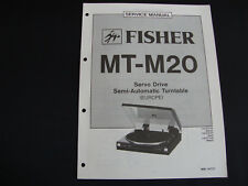 Original Service Manual Fisher MT-M20