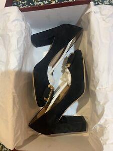 Authentic Salvatore Ferragamo Black Velvet Heels