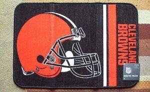 Cleveland Browns 20x30 Rug Mat Bath Bedroom Man Cave Kitchen Orange Helmet NWT