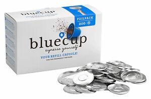 600 Folien BLUECUP Folienpaket Deckelpaket foilpack für Nespresso Kaffeekapseln