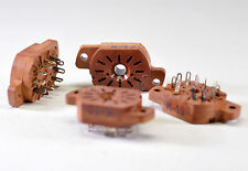 12 x IN-12 / IN-15 / IV-22 NIXIE TUBE SOCKETS SK-136 NEW NOS Brown