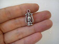 10 hurricane lamp storm lamp pendant charm tibetan silver antique style craft 3D