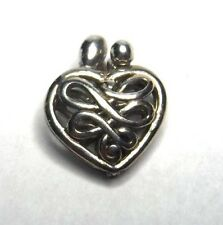 """Carolyn Pollack's Relios 3/4"""" Sterling Silver Mother Child Heart Locket Pendant"""