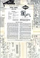 PHILCO  -  M-5944 FORMOCO Nº 95PM   AUTO RADIO  SERVICE MANUAL  ORIGINAL BOOK