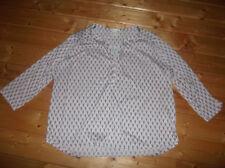 H&M Bluse Langarmshirt Damen XL 46 besch schwarz