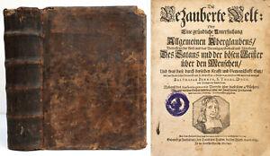Balthasar Bekker: Die bezauberte Welt. (1693). Erste deutsche Ausgabe.